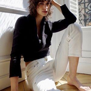 NWT Zara white Slim Boyfriend jeans SZ 2 fab!